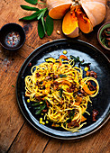 Spaghetti with Pumpkin Sauce