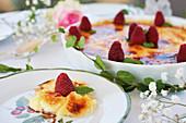 Raspberry Crème brûlées