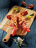 Lobster thermidor made in a Beefer