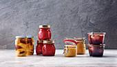 Eingewecktes - Zimtbirnen, Apfelkompott, Portweinfeigen, Himbeermarmelade