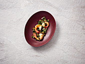 Prawns with chilli, garlic and bok choy