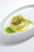 Fennel with cucumber and lemon cream