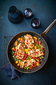 Easy one-pan feta and chilli chicken