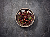 Beetroot salad with raspberry vinaigrette