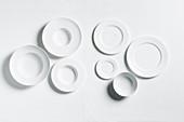 Empty, white plates