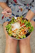 Oriental summer salad