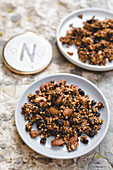 Buckwheat crunch with nuts and raisins