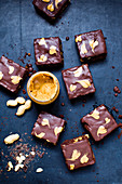 Silken tofu brownies with peanut butter (vegan)