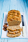 Vegan carrot and walnut bread