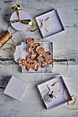 A box of gingerbread people