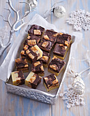 Home made toffees with peanuts