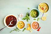 Barbecue marinades - Spicy Korean, Lemon maple, Middle Eastern, Italian, Miso