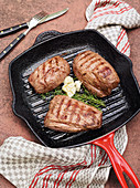 Beef fillet with rapini from the Westerwald