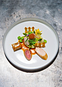 A spring dish with rabbit