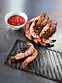 King prawns made in a Beefer with sweet chilli ketchup