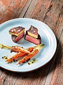 Hereford beef fillet with foie gras made in a Beefer