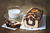 Vanilla and chocolate zebra cake