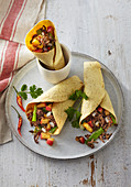Tortillas with beef and apples