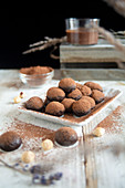Chocolate praline made with hazelnut and cocoa