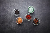 Flavoured salts – with figs, coffee, algae, umami and chicory granulate