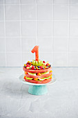 A fruity melon cake for a 1st birthday