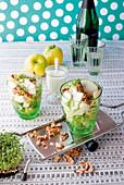 Waldorf salad with mozzarella