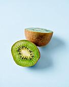 Two kiwi halves