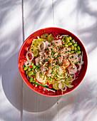 Poke bowl with sea bream