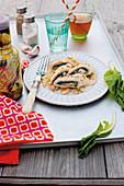 Turkey and chard rolls with mozzarella