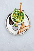 Rocket and mango salad with mozzarella