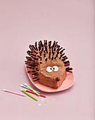 A chocolate hedgehog cake