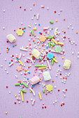Hundreds-and-thousands, marshmallows and colourful sprinkles