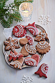 Two-colored gingerbread cookies