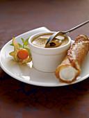 Sugar beet semi-freddo with anise cream