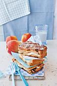 Apple and mozzarella French toast