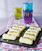 Halawet el Jibn – sweets made from mozzarella and pistachio nuts