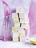 Sour lemon sherbet marshmallows