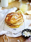 Lemon and sugar pancakes