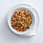 Caserecce mit Zucchini und Steinpilzen