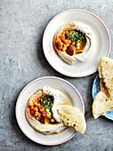 Hummus, harissa and flatbread