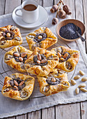 Puff pastries with poppy seed filling