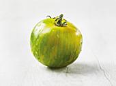 A 'Green Zebra' tomato