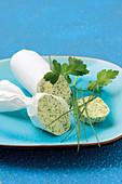 A roll of herb butter