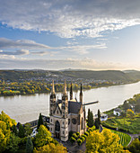 The Apollinariskirche above the town of Remagen, North Rhine-Westphalia, Germany