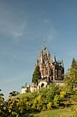 Drachenburg castle on Drachenfels mountain in Königswinter, North Rhine-Westphalia, Germany