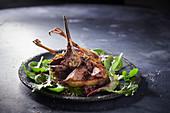 Wild roast chicken with a wild herb salad