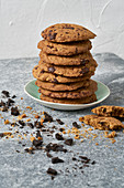 Soft-baked cookies with coconut and chocolate