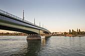 Kennedy Bridge looking towards Beuel, Bonn, North Rhine-Westphalia, Germany