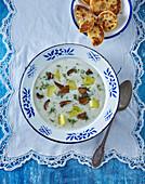 Krkonoše kulajda - Czech garlic soup