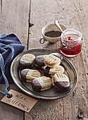 Shortbread butter cookies with poppy seeds